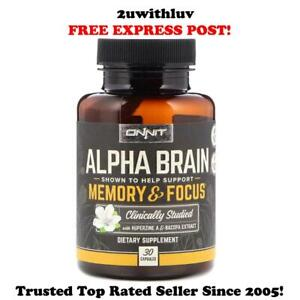 ONNIT ALPHA BRAIN HELPS SUPPORT MEMORY & FOCUS 30 CAPS **FREE EXPRESS POST**