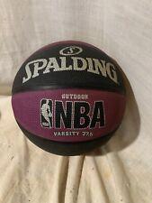 Spalding Nba Basketball Street Varsity Outdoor Purple And Black 27.5