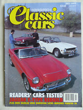 Classic Cars UK-Magazin 07/1992 - Jaguar E-type Stirling Moss MGC Lotus