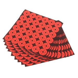 "360pcs Shooting Paper Target Florescent Orange Adhesive Target Stickers 1"""