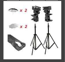 CowboyStudio Double Off-Camera Flash Mount Kit w/ Case, Stand, Umbrellas,UB4kit