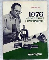 VINTAGE REMINGTON FIREARMS 1976 AMMUNITION COMPONENTS BROCHURE