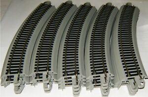 "Bachmann HO Nickel Silver EZ 18"" Radius Curve 20 Train Track Gray Roadbed 44501"