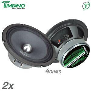 "2x Timpano TPT-MR8-4 BULLET 8"" Pro Audio Car Speakers 400 Watts Midrange 4 Ohms"