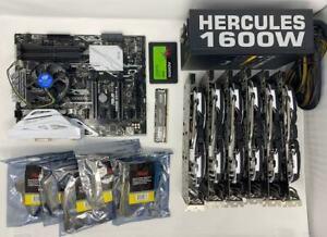 RX 580 4g - 6 GPU Mining Rig Starter Set (ETC, RVCN, +others)