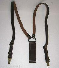 Genuine leather Y straps braces Vintage ARMY suspenders - Perfect NU