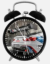 "BMW Race Car Alarm Desk Clock 3.75"" Home or Office Decor E222 Nice For Gift"