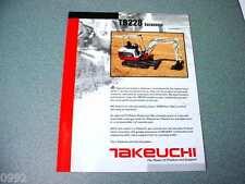 Takeuchi TB228 Excavator Brochure