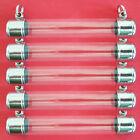 5X Pcs Thai Amulet Takrud Takrut Tube Casing Case Frame szie 1 3X8 cm 2 hook N02