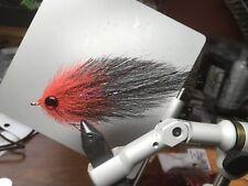 Saltwater flies,EP baitfish Gamakatsu 2/0 Red/black Tarpon Fly