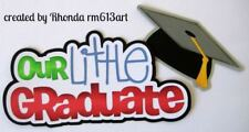 LITTLE GRADUATE school title paper piecing for Premade Scrapbook Pages by Rhonda