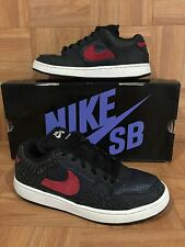RARE🔥 Nike Zoom Team Edition SB Dunk Obsidian Blue Red Cement Sz 7 311665-461