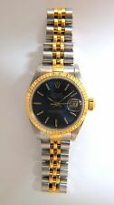 Ladies Blue Rolex Watch Two toned DateJust Jubilee 18kt Steel Working  +