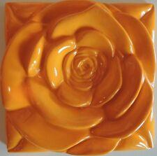 Tangerine Rose Tile Art-Craft Shower-Fireplace-Kitchen-Backsplash-Accent Inserts