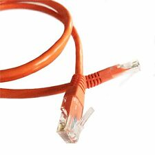 2M (6.5ft) Orange Ethernet Cable Cat5e RJ45 Network Lan Patch Lead 100% Copper