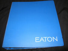 "EATON BLUE BINDER WITH ITS LOGO WITH 2"" INCH RINGS"