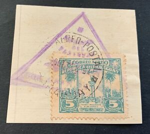 Paraguay 🇵🇾 1931 - used stamp Michel No. 374 airmail cancellation - Zeppelin?