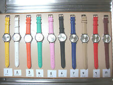 Who Cares I'm Already Late Faux Leather Unisex Wrist Watch (you choose colour)