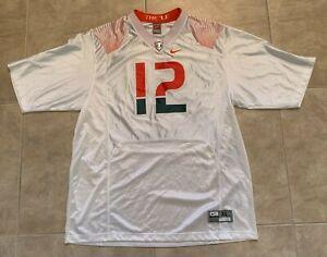 Jim Kelly University of Miami Hurricanes #12 NCAA Jersey White Orange Nike XL