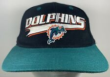 90s MIAMI DOLPHINS Cap Football Logo Athletic Snapback Hat Vintage Sports Game