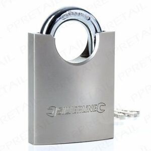 EXTRA STRONG WIDE 60mm SHROUDED SHACKLE PADLOCK Anti-Drill Garages/Shops/Vans