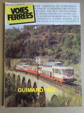 Voies ferrées n°10 mars 1982 X4200 L'épopée du Mistral CC 72000 Minitrix en N