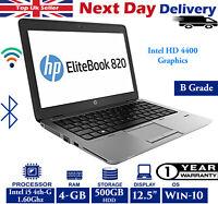 "HP EliteBook 820 G1 12.5"" Laptop Intel i5 4th-Gen 1.6Ghz 4GB RAM 500GB HDD Win10"