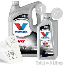 Car Engine Oil Service Kit / Pack 6 LITRES Valvoline VR1 Racing 20w-50 6L