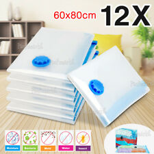 12 Pcs Vacuum Storage Bags Large Space Saver Seal Compressing Bed Clothes Travel