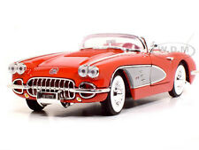 1958 CHEVROLET CORVETTE 1:18 SCALE RED DIECAST MODEL CAR BY MOTORMAX  73109