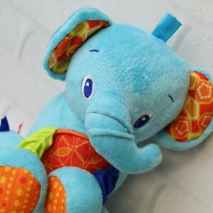 Bright Starts Hanging Car Seat Crib Baby Toy Rattle Crinkle Tags Elephant Plush