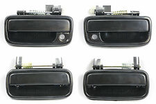 SET OF 4 PCS Outside Door Handle SMOOTH BLACK for 95-04 Toyota Tacoma Pickup