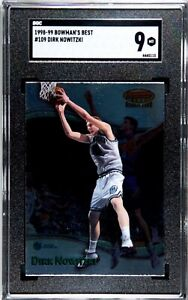 1998-99 Bowman's Best Dirk Nowitzki Rookie Card #109 SGC 9 (Comp PSA) Mavericks