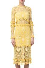 ALEXIS Callie Long-Sleeve Crochet-Lace Sheath Dress Size M Orig. $598 NEW