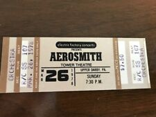 Aerosmith - Rare! Full unused ticket Tower Theater Upper Darby PA March 26, 1978