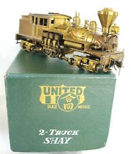 Shay Two-Truck, Good Condition, Good-Runner for an Early Run, In Brass by PFM