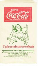 1946 COCA-COLA DRI SERVER OR NO DRIP NOS  MINT   LADY IN ROCKING CHAIR  #2