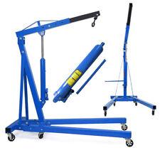 100kg 1 Ton Hydraulic Folding Engine Crane Hoist Lift Stand Garage Workshop Blue