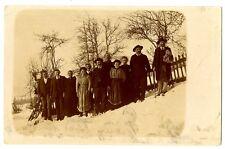 CPA 73 Savoie Carte-photo d'une famille Savoyarde