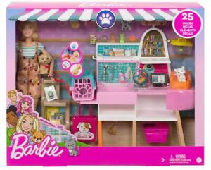 Barbie Doll Pet Boutique Playset 25 Pieces Pets Accessories Toy Gift BRAND NEW
