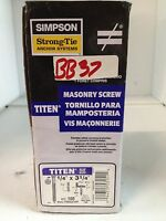 Blue Simpson Strong Tie TTN25400PF 1//4-Inch by 4-Inch Titen Concrete and Masonry Screw with Phillips Head