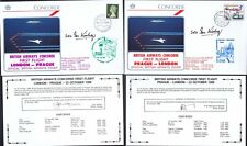 22.10.86 TWO BA CONCORDE FT SEO IAN KIRBY SIGNED COVERS_LONDON -PRAGUE- LONDON_R