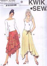 Kwik Sew 3286 Ladies Skirt Sewing Pattern Misses Size 6-22 XS S M L XL flared