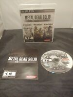 Metal Gear Solid HD Collection (Sony PlayStation 3 PS3) - CIB - Tested
