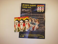 CD album promo + cp Julien Sagot ‎– Valse 333 (  Electronic, Rock ) Karkwa
