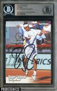 Roger Federer Signed 2003 Netpro Glossy #11 Autograhed AUTO BGS BAS Authentic