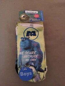 New Disney Pixar Monsters,Inc. Boys Socks 4 Pack