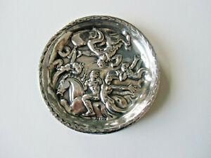 Relief  Nixen Poseidon und Neptun 835 Silber Fabelwesen Zierteller Untersetzer