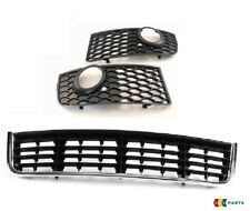 GENUINE AUDI A4 B6 S-LINE BUMPER GRILL FOG LIGHT SURROUND CENTER GRILL SET 3 PCS