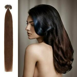 Full Head Nail/U Tip prominent Remy Human Hair Extensions Lustrous flowy soft